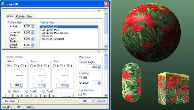 Эффект Shape3D в Paint.NET