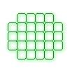Эффект прямоугольная сетка