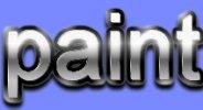 Как сделать в paint.net объемный металлический текст