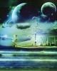 Таинственный остров (коллаж) в paint.net