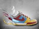 Коллах дизайн рекламы для кроссовок