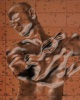 Прозрачный стеклянный или водяной человек в рaint.net
