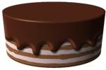 Торт с шоколадной глазурью в рaint.net