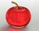 Как нарисовать красное стеклянное яблоко