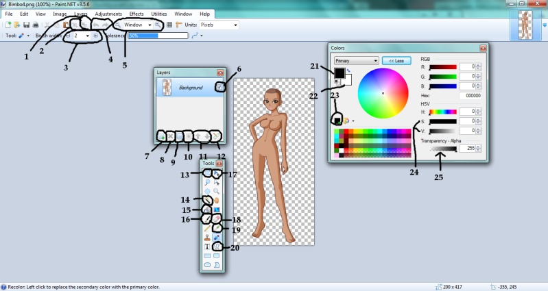 Как нарисовать в paint.net платье для куклы