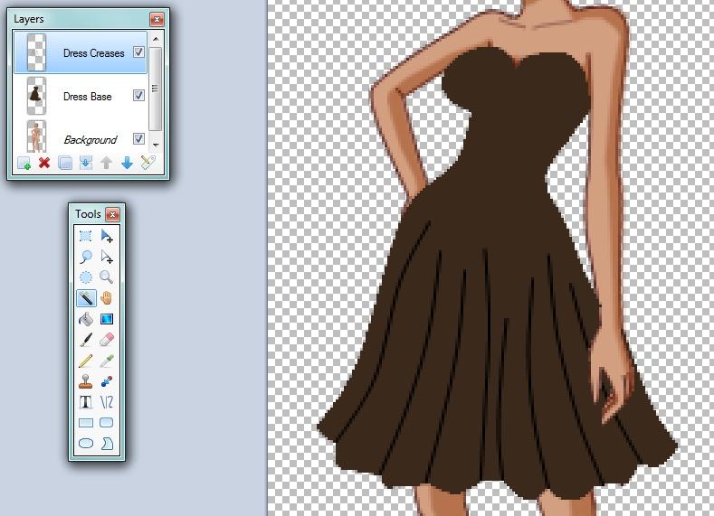 Как нарисовать платье красками