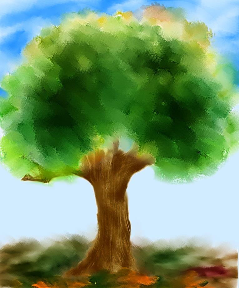 Как рисовать деревья с фото